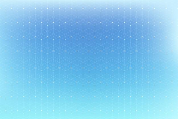 Geometrisches muster mit verbundenen linien und punkten.