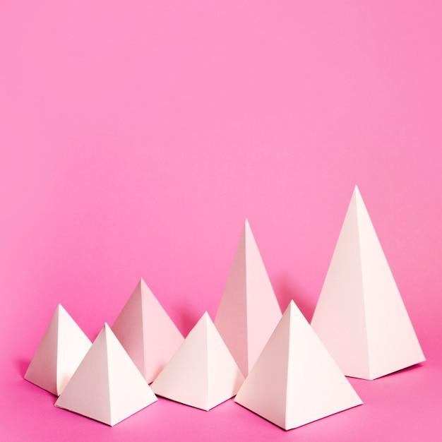 Geometrisches papierelementset für den kopierraum