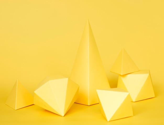 Geometrisches papierobjektdesign