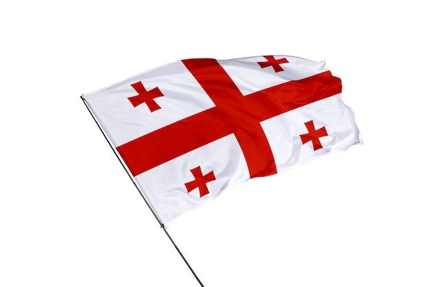 Georgien-flagge auf weißem hintergrund