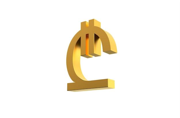 Georgisches lari-währungssymbol in 3d