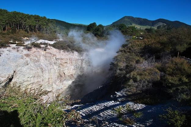 Geothermischer park wai-o-tapu, rotorua, neuseeland