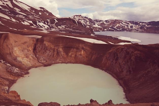 Geothermischer see , askja , island