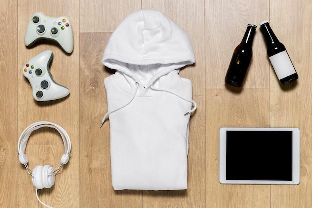 Gepackter hoodie für die spielzeit