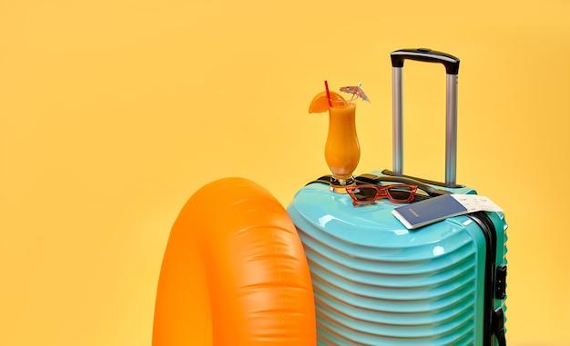 Gepäck für den urlaub vorbereitet