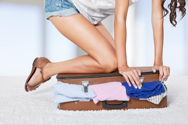 Gepäck voll und reisefertig