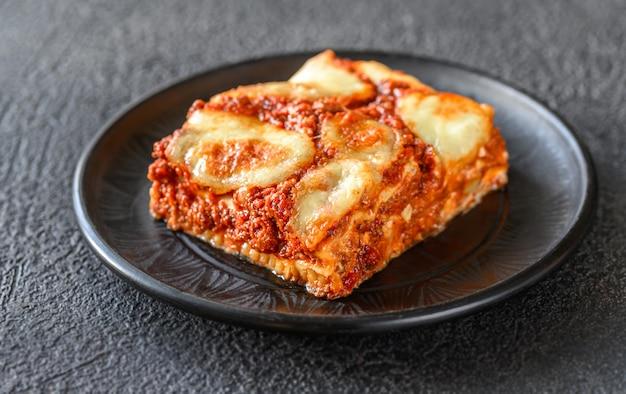 Gericht mit lasagne