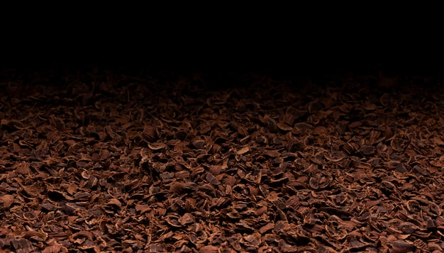 Geriebene schokoladenbeschaffenheit