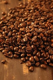Geröstete kaffeebohnebeschaffenheit