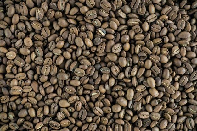 Geröstete kaffeebohnen antenne