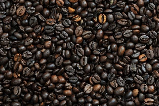 Geröstete kaffeebohnen, kaffee