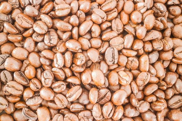 Gerösteter kaffeebohne strukturierter hintergrund