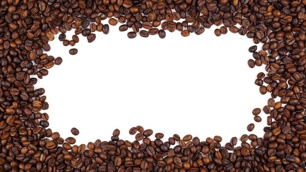 Gerösteter thailändischer kaffeebohnenbeschaffenheitshintergrund