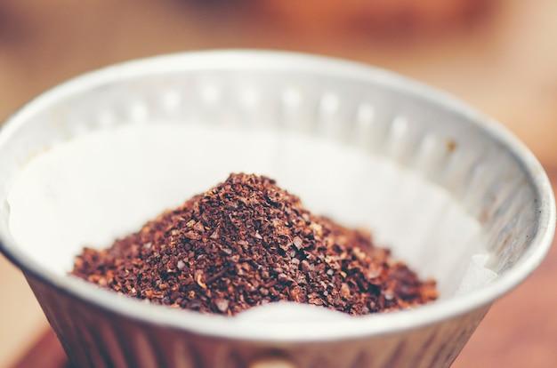 Geruch von frisch gemahlenem kaffee
