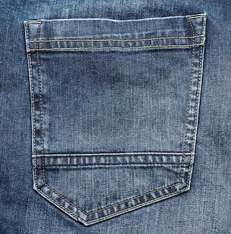 Gesäßtasche mit blue jeans, vollformat, nahaufnahme