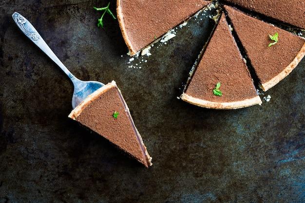 Gesalzenes karamell- und schokoladentörtchen