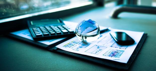 Geschäft der finanzanalyse des arbeitsplatzes