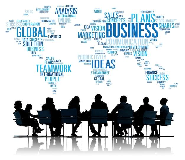 Geschäft globale welt plant organisation unternehmenskonzept