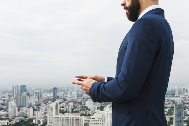 Geschäft person talking phone concept