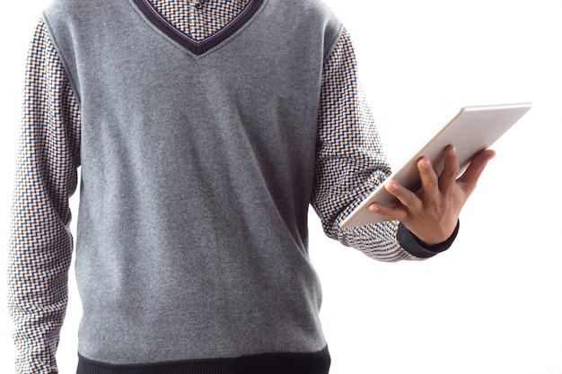Geschäft tragbare weiße männer touchscreen