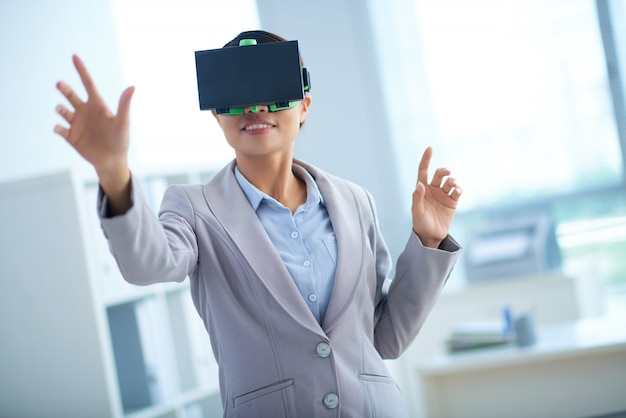 Geschäft und virtuelle realität