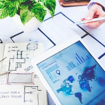 Geschäft unordentlich kreatives strategie-bildungs-besetzungs-konzept