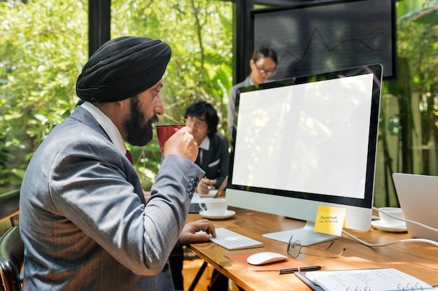 Geschäfts-kommunikationsunternehmen-unternehmer-konzept