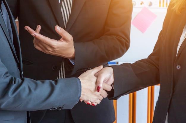 Geschäfts-team-unternehmensorganisations-sitzungs-konzept