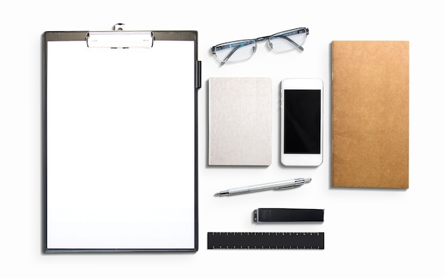 Geschäfts- und marketingelemente isoliert auf weiß.