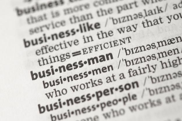Geschäftsdefinitionen