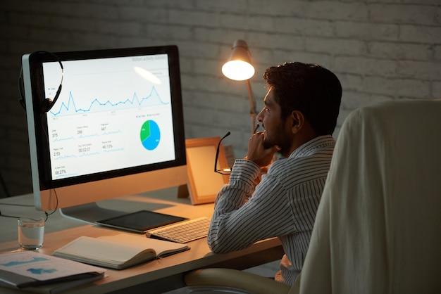 Geschäftsdiagramm analysieren