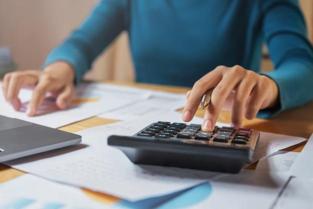 Geschäftsfinanzierungs- und buchhaltungskonzept