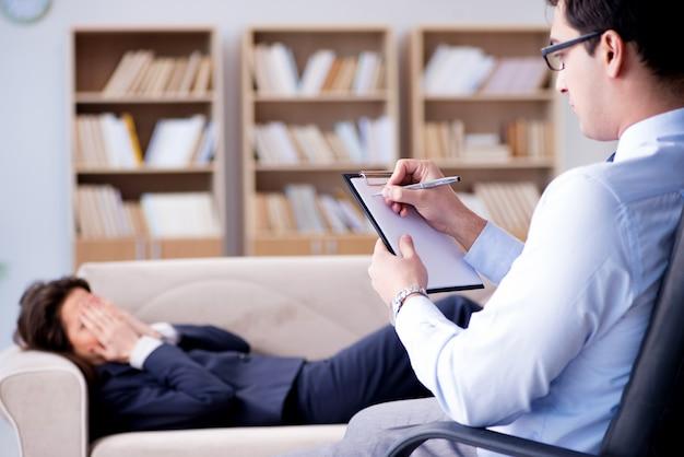Geschäftsfrau auf psychotherapie