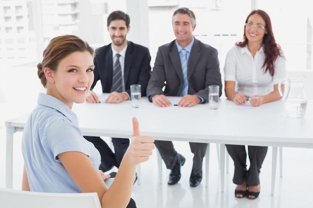Geschäftsfrau in einem arbeitsgespräch