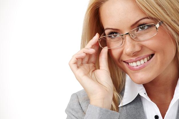 Geschäftsfrau in gläsern