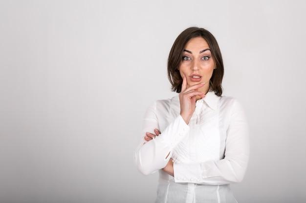 Geschäftsfrau isoliert