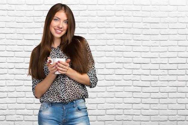 Geschäftsfrau mit cup