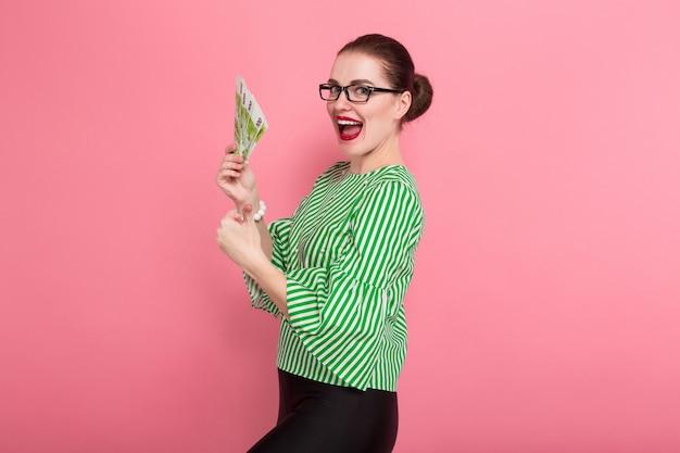 Geschäftsfrau mit haarknoten