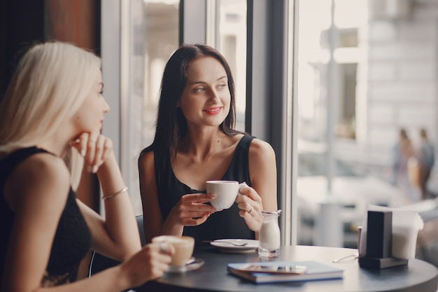 Geschäftsfrauen im restaurant