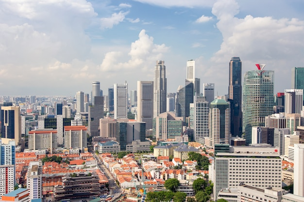 Geschäftsgebäude und finanzviertel in singapore city
