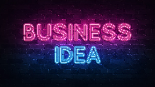 Geschäftsidee leuchtreklame.