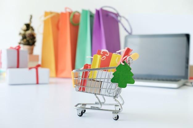 Geschäftsinternet-on-line-einkaufen, einkaufslieferung.
