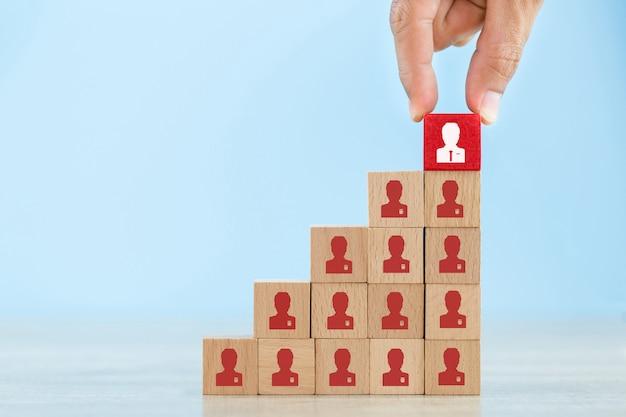 Geschäftskonzept des personalmanagements und der einstellung