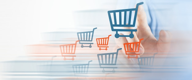 Geschäftskonzept online-verkauf und kauf