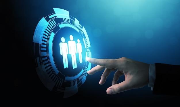 Geschäftskonzept personalmanagement und personalbeschaffung