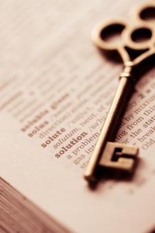 Geschäftskonzeptschlüssel für lösung