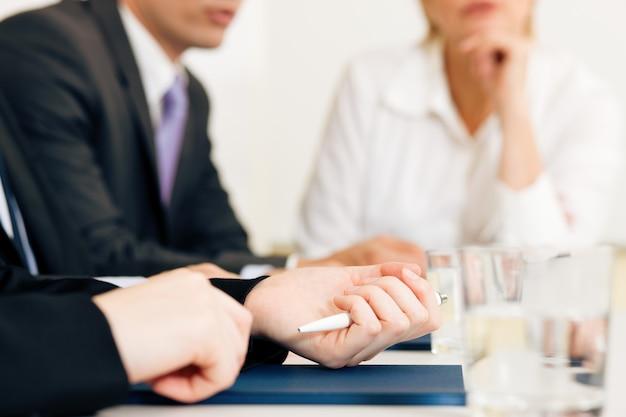 Geschäftslage, team in besprechung