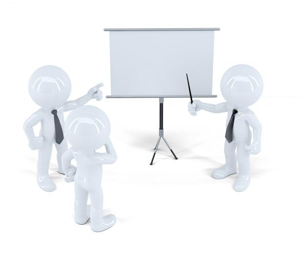 Geschäftsleute bei der präsentation. isoliert. enthält einen beschneidungspfad