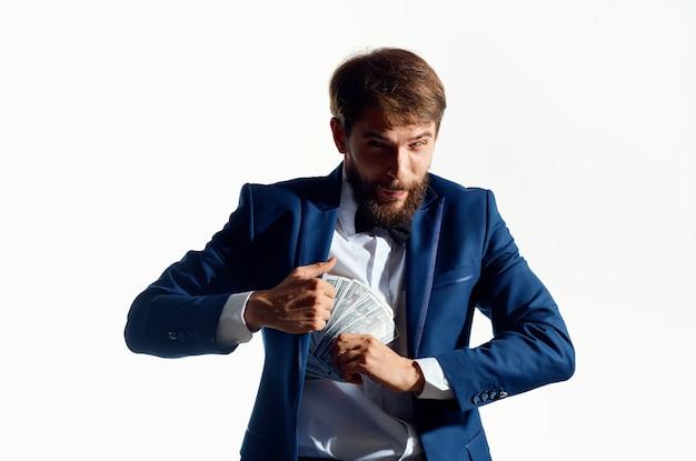 Geschäftsleute investitionen wirtschaft heller hintergrund