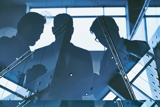 Geschäftsleute reflexion